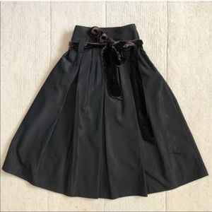 Zara Pleated A-Line Skirt with Bow